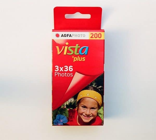 AgfaPhoto Vista plus 200 Color Negative Film (35mm Roll Film, 36 Exposures, 3 Pack)