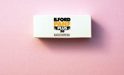 Ilford Pan F Plus Black and White Negative Film (120 Roll Film)