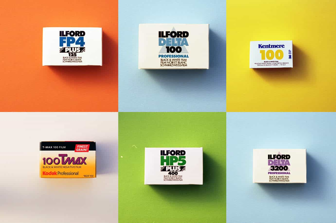 B&W Bestsellers - Black and White Film Combo Pack (35mm Film, 6 rolls)
