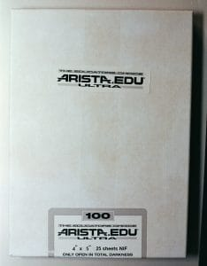 "Arista EDU Ultra 100 Black and White Sheet Film (4 x 5"", 25 Sheets)"