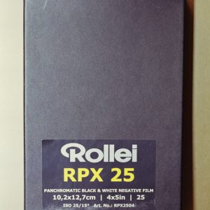 "Rollei RPX 25 Black and White Sheet Film (4 x 5"", 25 Sheets)"